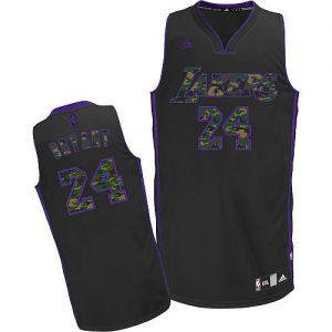 5d612026059 Lakers #24 Kobe Bryant Black Camo Fashion Embroidered NBA Jersey