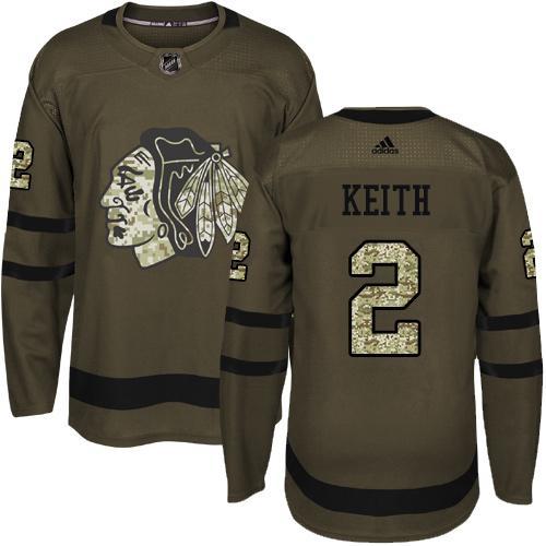 8e2f8fbcb6b Adidas Blackhawks #2 Duncan Keith Green Salute to Service Stitched NHL  Jersey ...